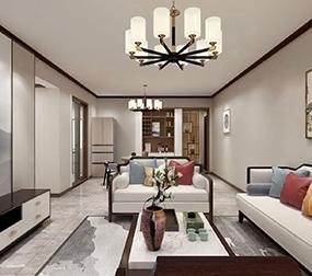 蟠龙小区148m²新中式风格案例